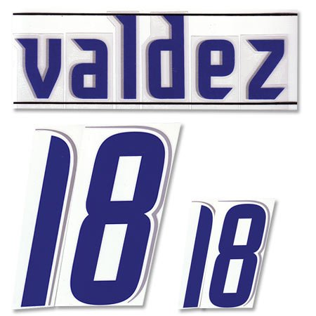 Valdez Nr.18 06-07 Paraguay Home offizielle Beflockung