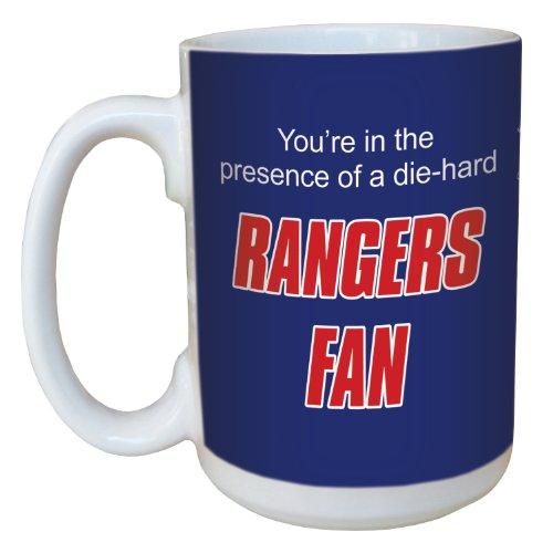 Coffee Mug Rangers (Tree-Free Greetings lm44187 Rangers Hockey Fan Ceramic Mug with Full-Sized Handle, 15-Ounce)