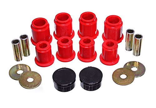 Energy Suspension 8.3132R Control Arm Bushing Set Red Front Performance Polyurethane Control Arm Bushing Set