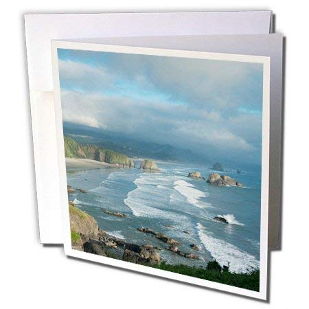 (tecmac Oregon Coast, Cannon Beach, Ecola State Park Greeting Cards, 6