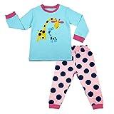 Maplewel Girls Pajamas Set Toddler Long Sleeve Sleepwears 100% Cotton Kids PJS Clothes Size 2 Years - 7 Years
