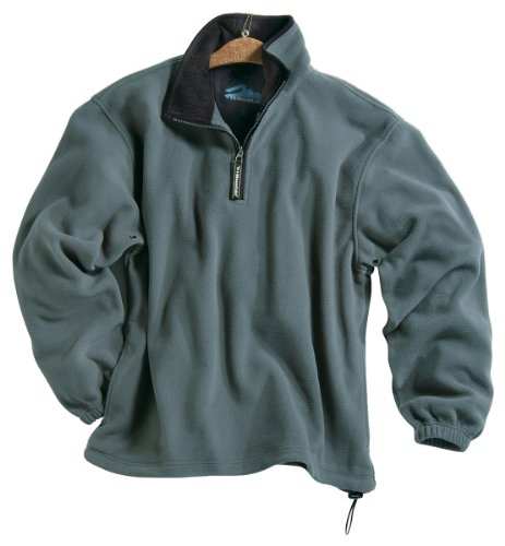 - Tri-mountain Micro fleece 1/4 zip pullover. 7100TM - SAGE / BLACK_S