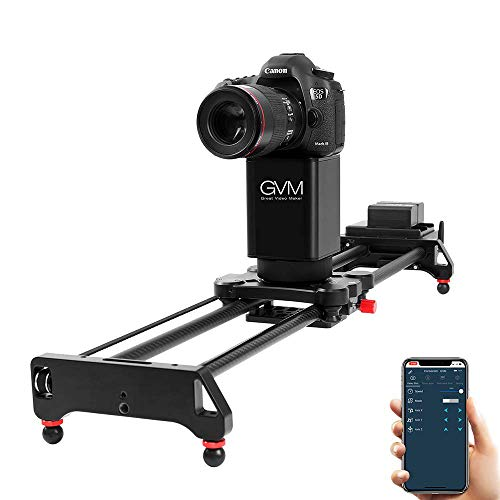 2-Axis Motorize Camera Slider 32'' Electronic Video Slider 360 Degree Rotate Auto Loop Track System Shooting Equipped with Wireless Controller Tracking Shooting Video Slider,Load up to 22lbs