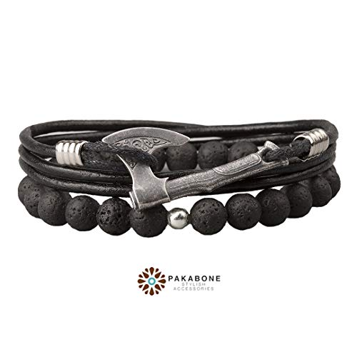 Viking Axe Bracelet Wristband With Axe Viking Jewelry Slavic Jewelry Axe Perun's from PAKABONE
