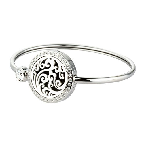 Diffuser Bracelet Essential Oil Jewelry Aromatherapy Bangle Stainless Steel Lockets for Girls Charm Jewelry Birthday Gift Ideas