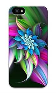 Rosesea Custom Personalized iPhone 5 Case, Personalized Custom Hard 3D Rainbow Flower Durable Case Cover for iPhone 5 5S