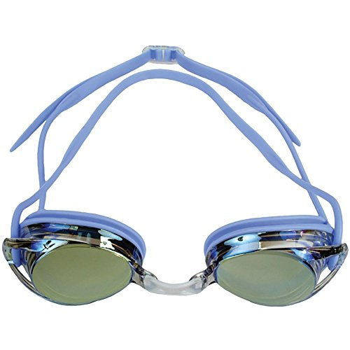 - Water Gear Metallic Vision Swim Goggles Anti-fog Junior fit for Competition - VIOLET
