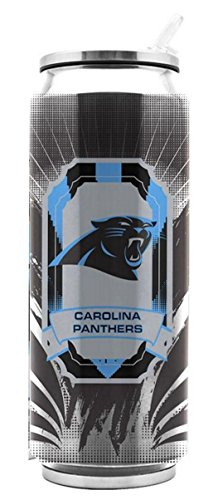 NFL Carolina Panthers Stainless Steel Thermocan 16.9 oz - Thermo Can Travel Tumbler Drink Container