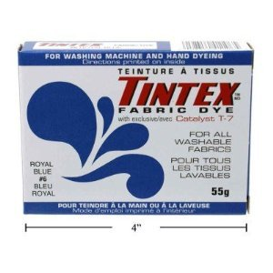 Lot of 1 Tintex Brand Royal Blue Fabric Dye 6 - Tintex Dye