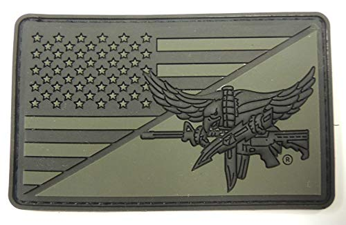 NEW PVC OD Green Flag Patch with SWAT Operator Eagle