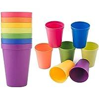 Enzege Vasos de Plástico, 8 Piezas, 200 ml