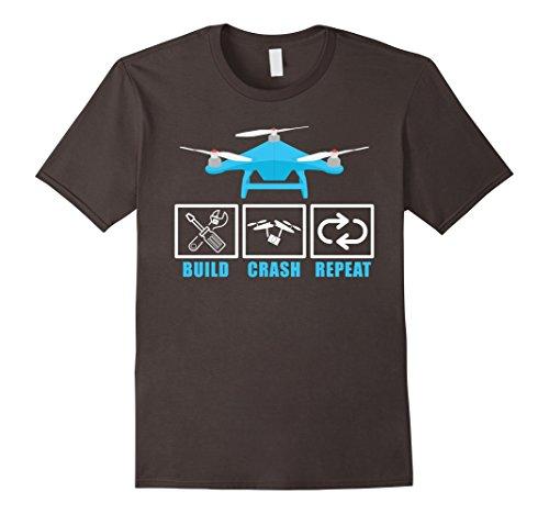 Mens Build Crash Repeat Drone Pilot RC Tricopter Aircraft...