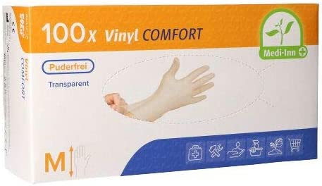 Decorations Handschuhe Vinyl puderfrei Comfort 100 St/ück Gr/ö/ße M Vinyl
