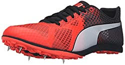 PUMA Men's Evospeed Crossfox v3 Soccer Shoe, Red Blast/Puma Black/Puma White, 11.5 M US
