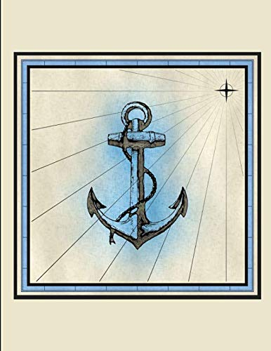 Captain Nautical Ship Anchor Rope Notebook Journal 150 College Ruled Pages 8.5 X 11 -