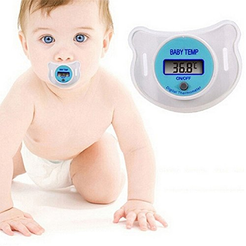 Tuliptown Digital Baby Nipple Pacifier Thermometer,LCD Display for Infant