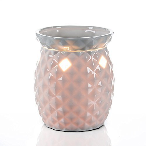 (Candle Warmer Tall White Ceramic Tart Lamp Warmer - Wax Cube Melter - Air Freshener Odor Eliminator)