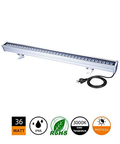 LED Wall Washer, 36W Dusk to Dawn Sensor Light, 200W MH/HPS Equivalent LED Light Bar, 3.2ft/40
