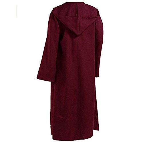 Star Wars Jedi Men Tunic Hooded Robe Cloak Knight Fancy Cool Cosplay Costume (TagsizeXL=USsizeL, ()