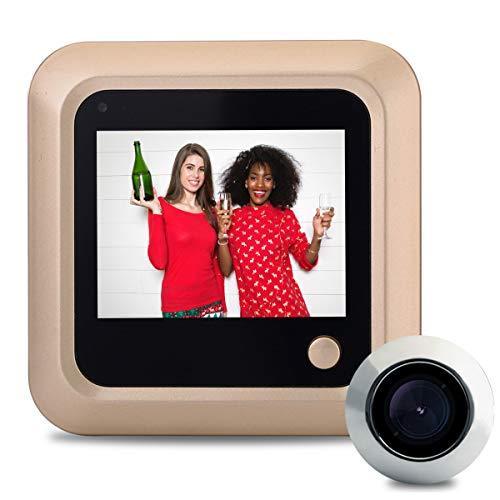 (Door Peephole Camera Wireless, 2.4 inch LCD Screen Digital Door Viewer Security Camera Monitor Video Record Photo Shooting (No Night Vision, No PIR Motion)