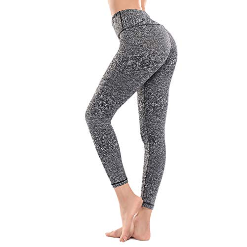 ZEALOTPOWER Black Yoga Pants for Women Capri Tummy Control High Waist w Pocket L ()