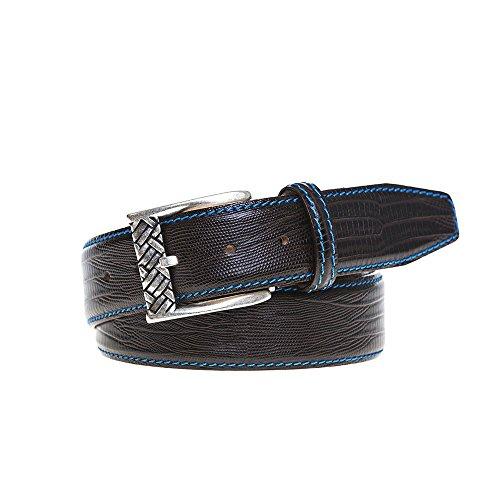 Brown Mock Lizard Belt by Roger Ximenez: Bespoke Maker of Fine Leather Goods