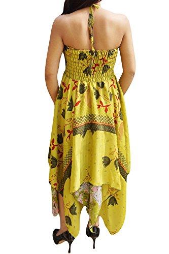 Kleid M Orange Grün Damen Interior Brown Mogul Gelb S BzxYEnww