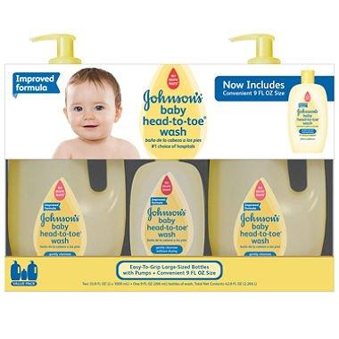 Johnson's Baby Head-to-Toe Wash (2 - 33.8 fl. oz., 1 - 9 fl. oz.)