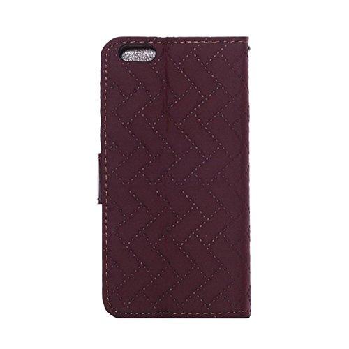 """LD Case A000896 Housse pour iPhone 6 4,7"""" Aspect Jeans Bordeaux"""