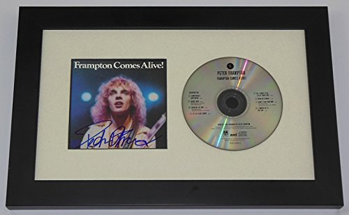 Peter Frampton Frampton Comes Alive! Hand Signed Autographed Music Compact Disc Cd Cover Framed Display Loa