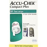 Accu Chek Compct Plus (paquete de tamaño 102 o 2 paquetes de 51)