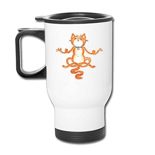 UOTAQ Travel Blank Mug Special Meditation Yoga Cat Stainless Steel Car Mug Mug Travel by UOTAQ