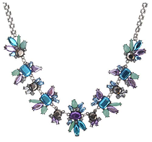 CHASIROMA Boho Statement Necklace Rhinestone Crystal Choker Statement Fashion Costume Necklace for Women with Luxury Drop Beads Jewelry