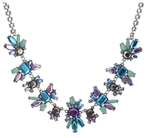 CHASIROMA Boho Statement Necklace Rhinestone Crystal Choker Statement Fashion Costume Necklace for Women with Luxury Drop Beads Jewelry