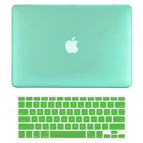 Top Case 2 in 1 Retina 13-Inch Rubberized Hard Case Cover fo