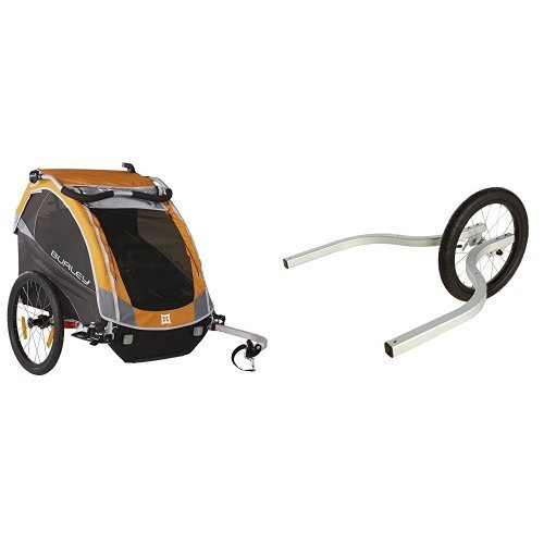 BURLEY D'LITE, ORANGE WITH DOUBLE JOGGER KIT by