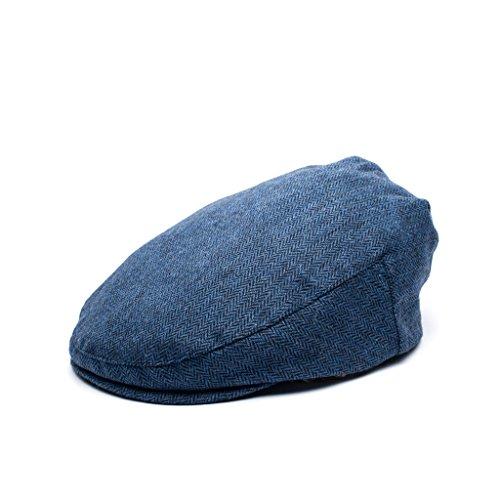 (Born to Love Flat Scally Cap - Boy's Tweed Page Boy Newsboy Baby Kids Driver Cap Hat (SM, Blue Navy))