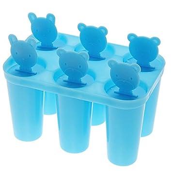 Molde para paletas, molde de helado, molde para helados de seis dimensiones para oso