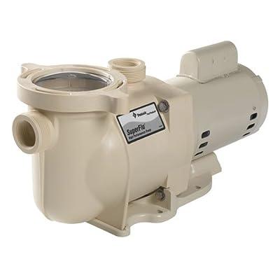 Pentair 340039 SuperFlo High Performance Single Speed Pool Pump, 1½ Horsepower, 115/230 Volt, 1 Phase