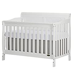 Dream on meFeatures:                Finish: White         Material:New Zealand Pine Wood         Cribs coverts into a toddler bed, a daybed and full size bed. Bed frame and Mattress not included.         Toddler Guardrail and Full Size...