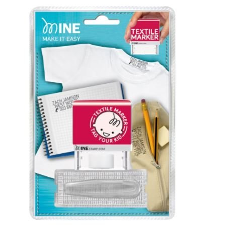 Colop Tampon marqueur de vêtements DIY Tampon–38x 14mm–4mm Lettre Taille Amènera jusqu'à 3lignes de texte