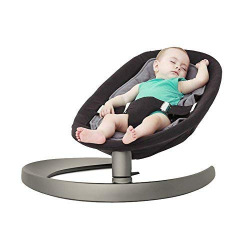 Baby Bouncer Chair, IFOYO Baby Rocking Chair Baby Swing Chair for Newborn, Toddler, Kids from Ages 0 to 5, Quick Assembly, Random Colour (Black or Silver Grey), Ideal Christmas Gift