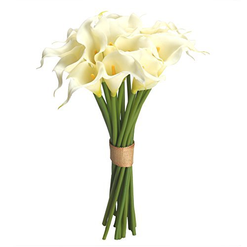 Easin Calla Lily Bouquet for Wedding 20 PCS Lily Flowers Centerpieces Bridal Shower Party Home Decor