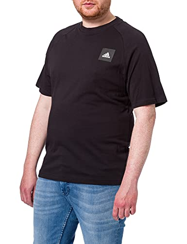 adidas Herren MHE Tee Stadium T-Shirt, Black, XS