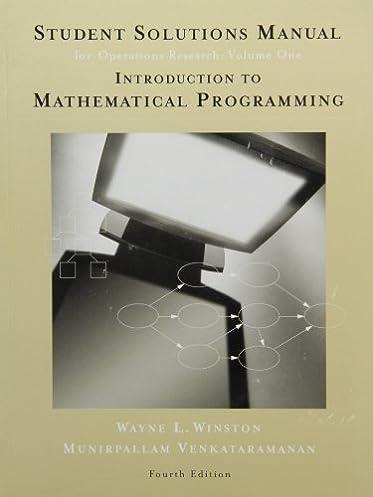 student solutions manual for winston s introduction to mathematical rh amazon com Algorithm Clip Art Algorithm Clip Art