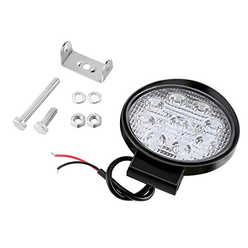 - 27W LED Light, 27W Flood Beam Led Bulbs Floodlight Headlight Work Light Lamp Portable Round Bar Lamp For Boat Tractor Truck Off-Road Cars