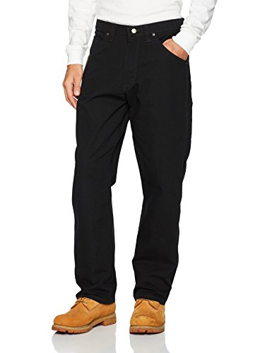 Wrangler Men's Riggs Workwear Carpenter Jean, Black, 33x30 by Wrangler
