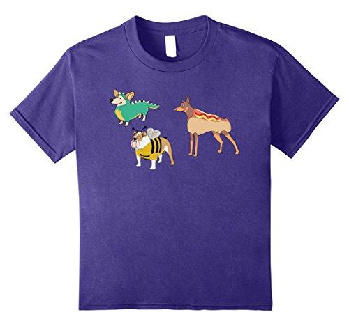Homemade Halloween Bee Costumes (Kids Goofy Dogs In Costumes Funny Halloween T-Shirt 8 Purple)