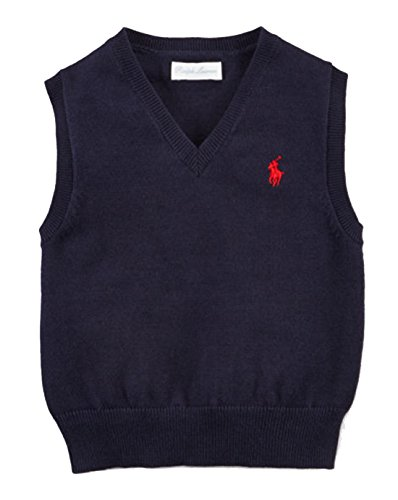 RALPH LAUREN Baby Boy Cotton Sweater Vest Size 3 Month - Ralph Sweater Boys Lauren Vest