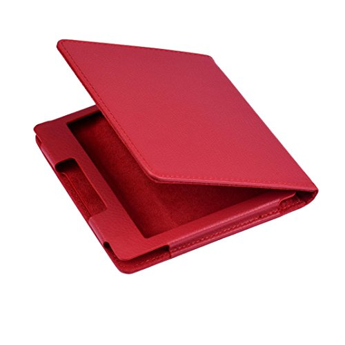 Price comparison product image MNtech For Amazon Kindle Oasis 6 Inch Tablet Folio Magnetic Stand Case Cover (Red)